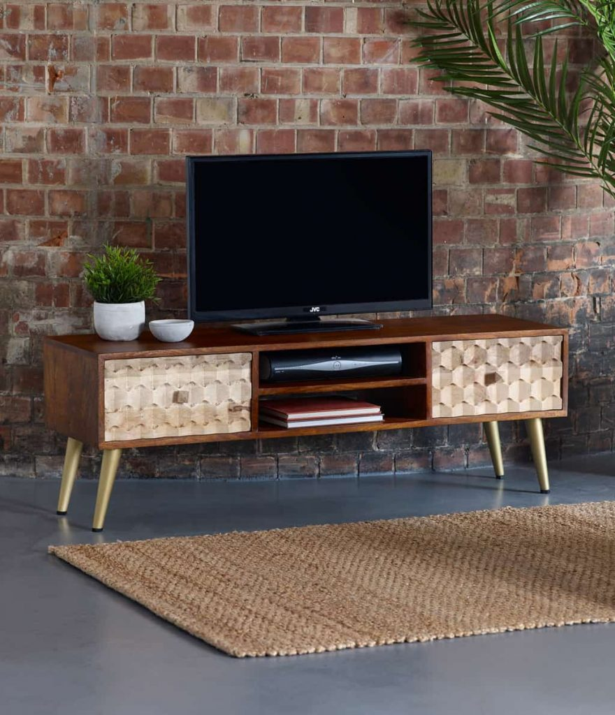 Alaska Solid Wood Large LCD TV Cabinet Stand
