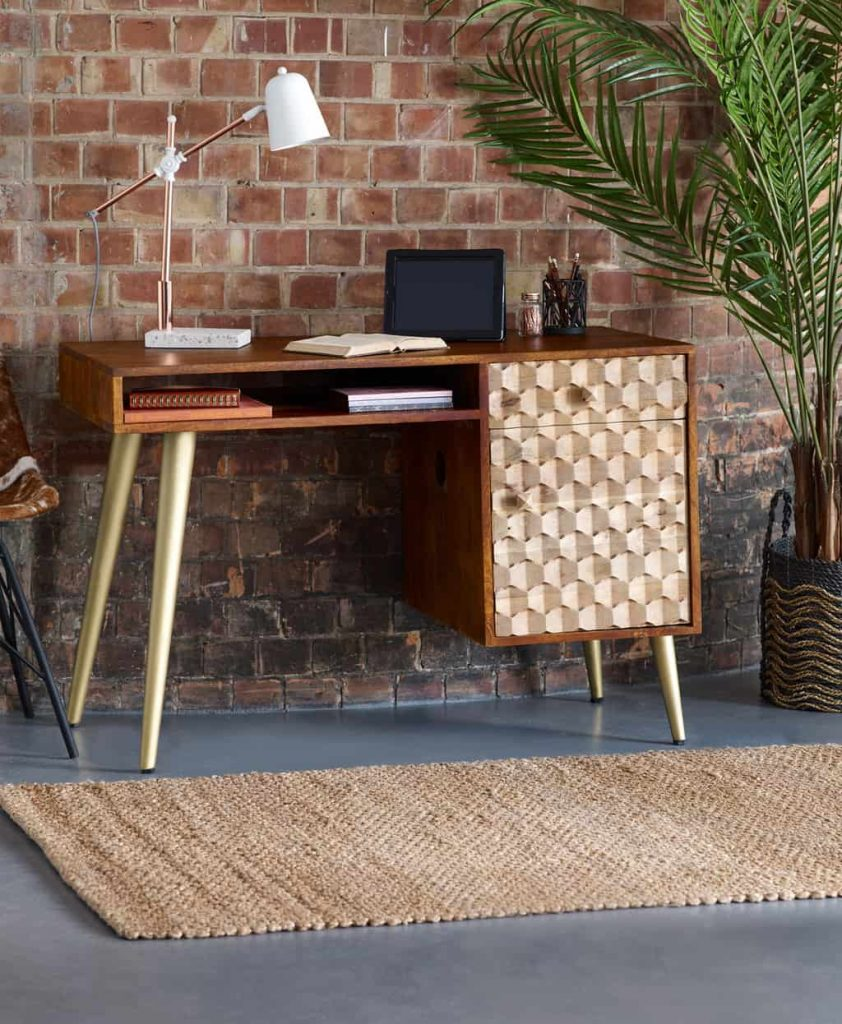 Alaska Solid Wood Large Home Office Desk