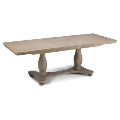 Boston Solid Chunky Medium Oak Large Extending Dining Table