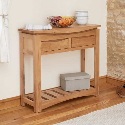 Baumhaus Roscoe Oak Large Console Table