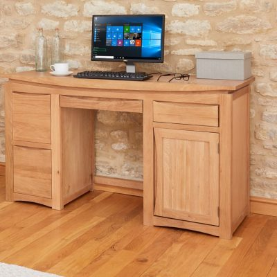 Baumhaus Roscoe Oak Large Twin Desk