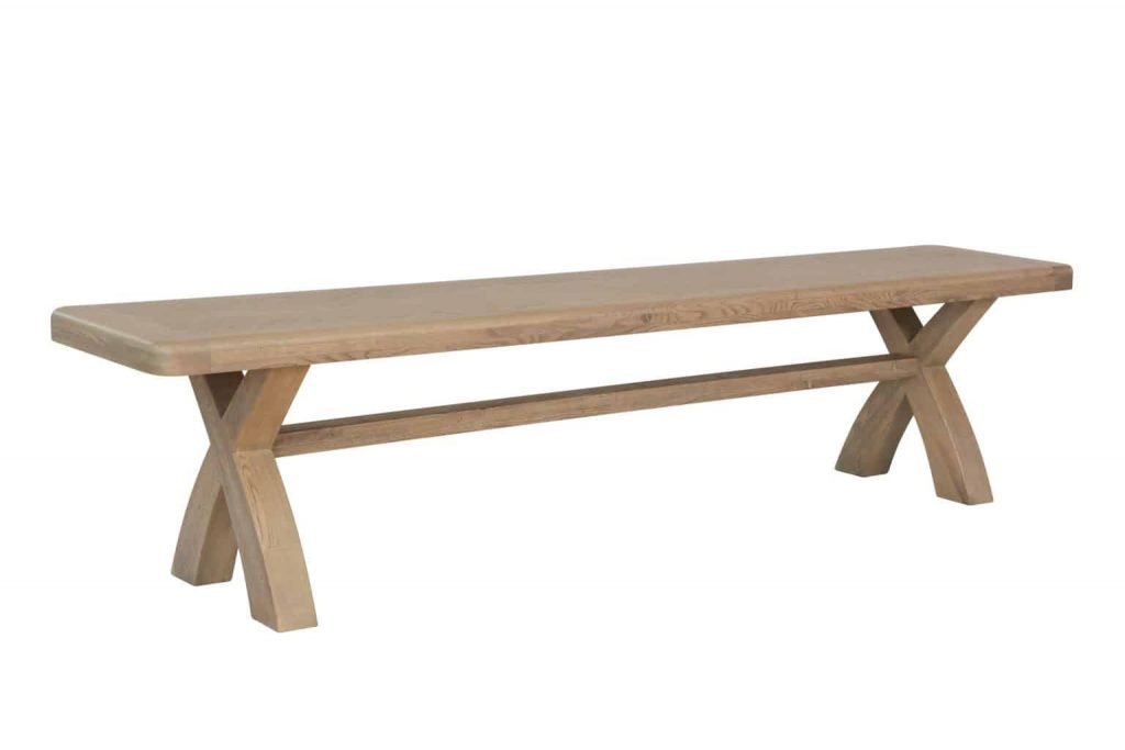 Holburn Solid Chunky Rustic Oak Extra Large Dining Bench