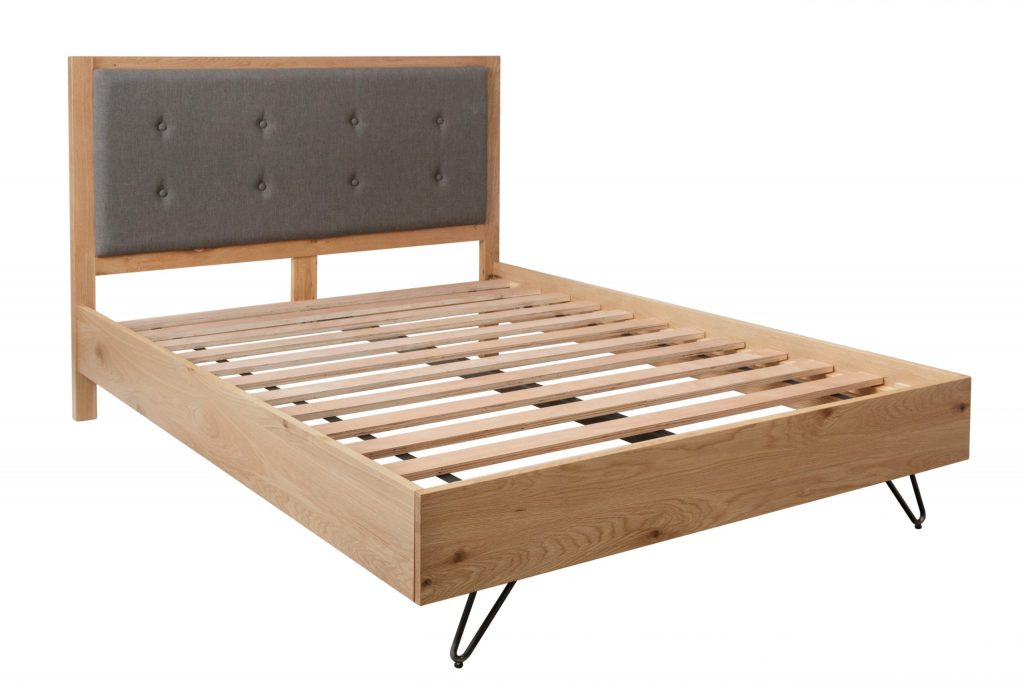 Brisbane Industrial Solid Oak 4'6 Double Size Bed