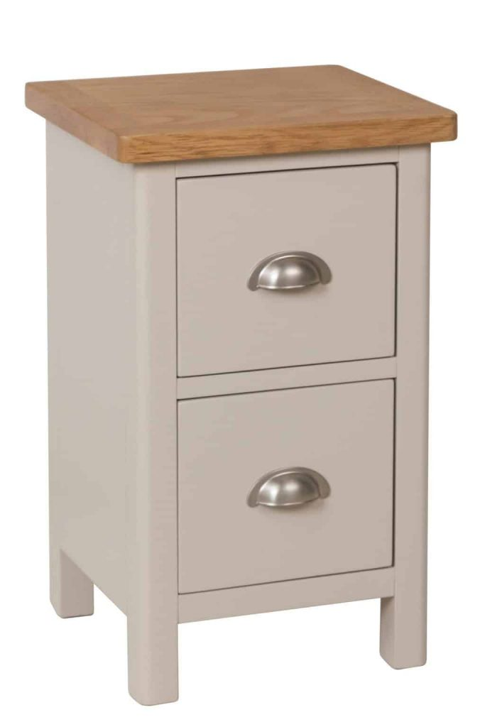 Bradford Stone Painted Oak Small Bedside Cabinet Stand