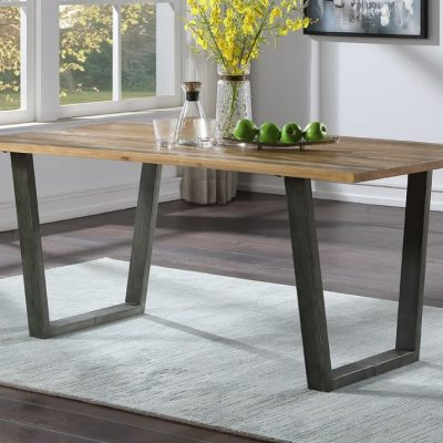 Baumhaus Urban Elegance Industrial Reclaimed Wood Large Dining Table